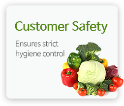 Customer Safety - Ensures strict hygiene control